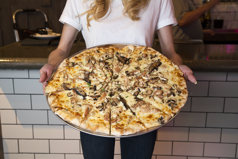 Creamy Chicken and Mushroom Pizza from The Pitch